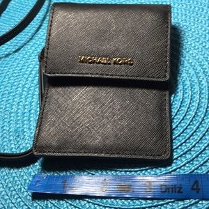 "Michael Kors Wallet with detachable 16"" long strap"